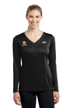 Women's Long Sleeve V-Neck Tech Tee